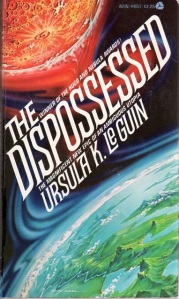 Image of a book cover for The Dispossessed by Ursula K LeGuin