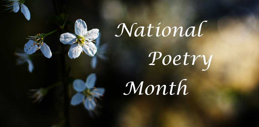 National Poetry Month (image with flowers)