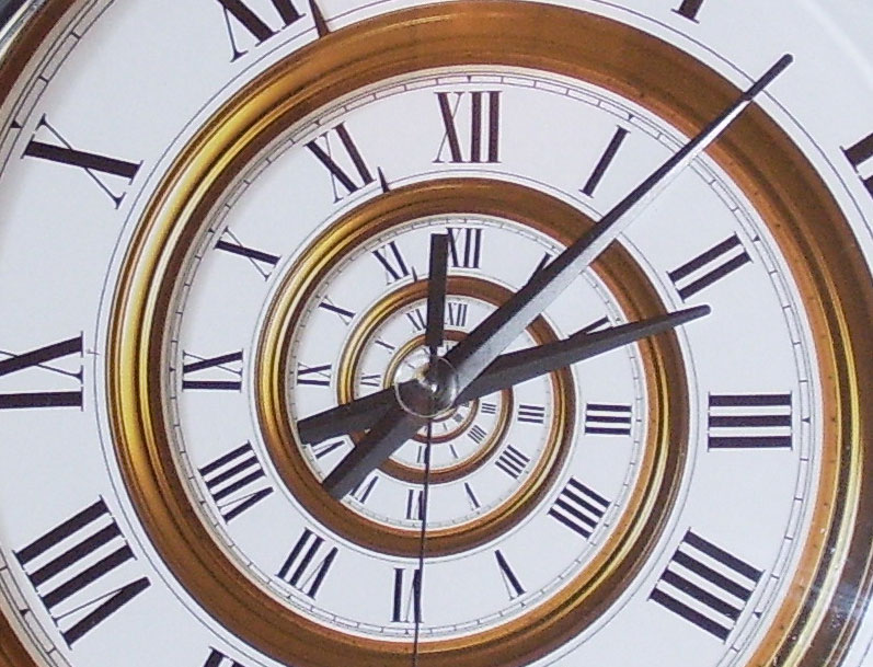 Image of spiral clock credit: Chris Limb via Flickr, Creative Commons License 2.0.